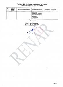 Certificat acreditare ISO 15189 Anexa 2