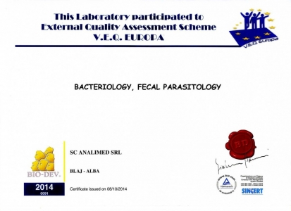 Certificat control extern 2014