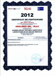 Certificat biochimie 2012
